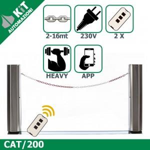CAT/200 Barriera a catena (fino a 16mt) con 2 radiocomandi compresi