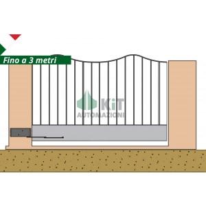 COMPASSO/1 Automazione per cancelli a 1 anta battente fino a 3 metri (azionamento a compasso)
