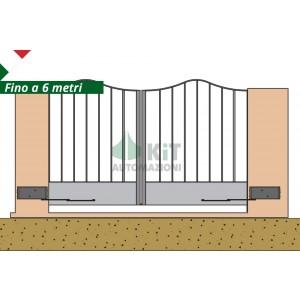 COMPASSO/2 Automazione per cancelli a 2 ante battenti fino a 6 metri (azionamento a compasso)