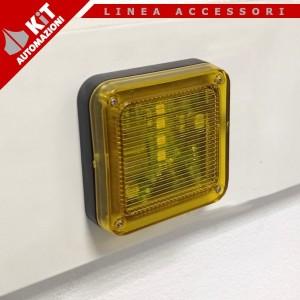 LAMP/ALF Lampeggiatore piatto a basso profilo LED con antenna integrata 433MHz