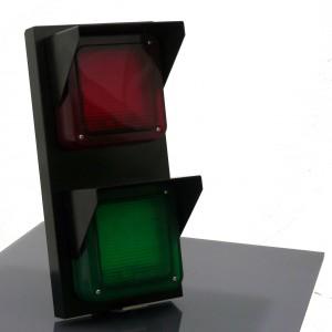 AMP Semaforo rosso/verde in alluminio con luci LED