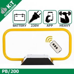 PB200 dissuasore di parcheggio a prova d'urto radiocomando compreso - Larghezza 105cm