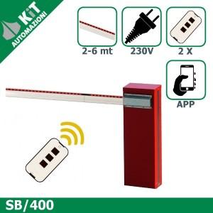SB/400 barriera stradale per aste fino a 6 metri con 2 radiocomandi compresi