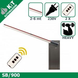 SB/900 barriera stradale per aste fino a 6 metri con 2 radiocomandi compresi