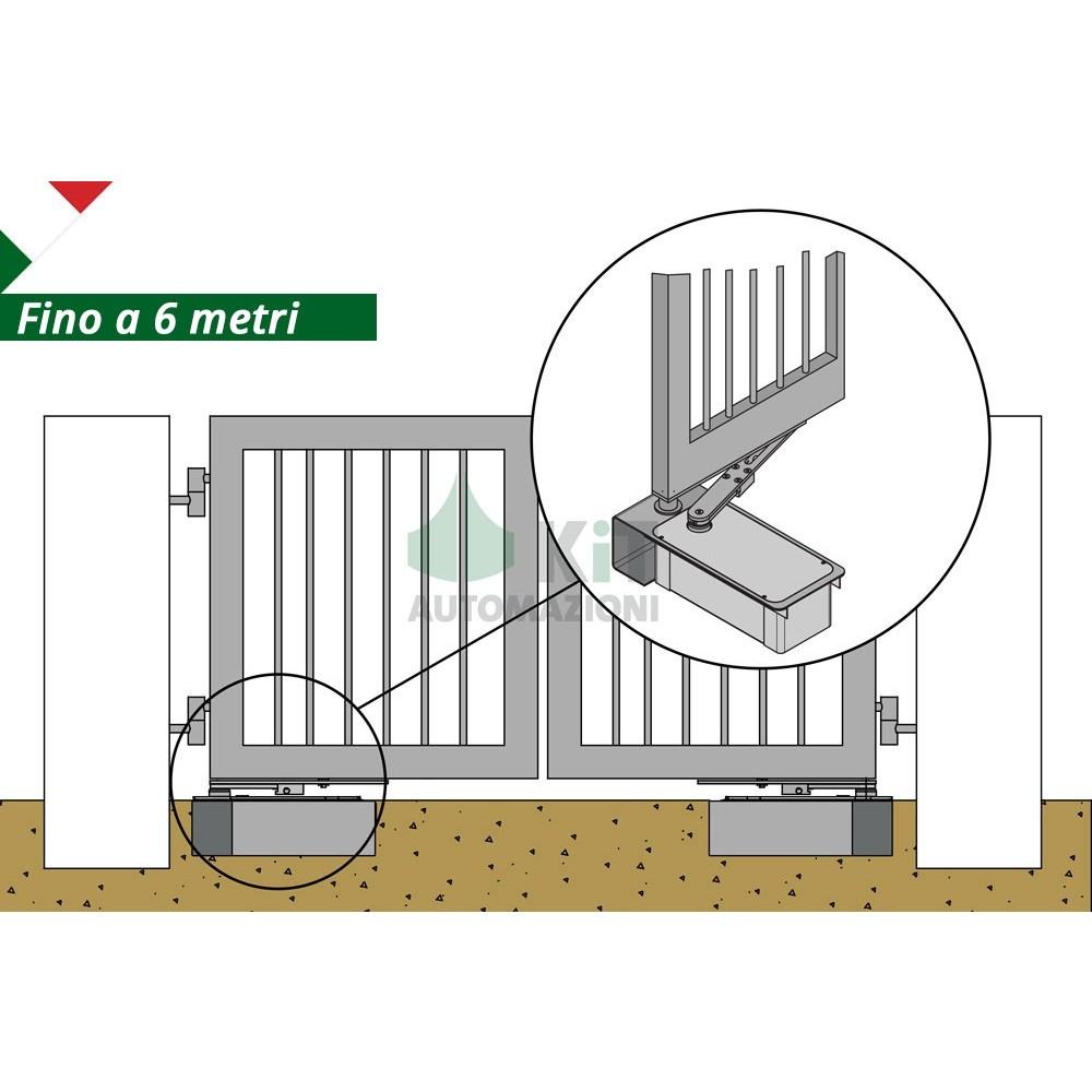 Schema Elettrico Cancello A Due Ante.Motori Interrati Per Automazione Invisibile Cancelli A Battente 2