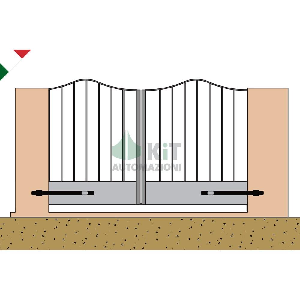 Cancello Elettrico A Due Ante.Kit Motori Per Cancello Automatico A 2 Ante Funzionante A 24v
