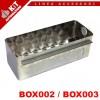 Cassetta di fondazione BOX002 in acciaio zincato o BOX003 in acciaio INOX