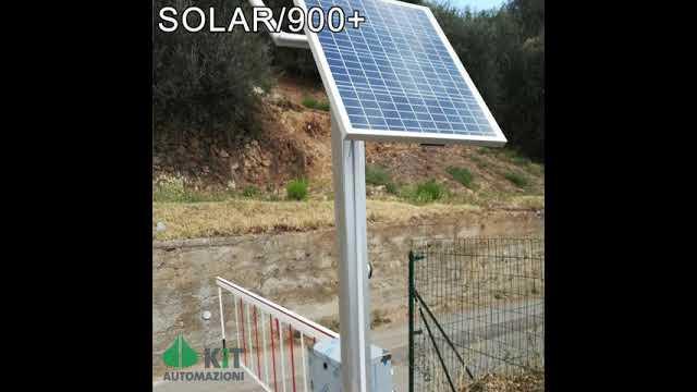 Asta automatica alimentazione autonoma 400 accessi - esempio installazione e panoramica - SOLAR/900+