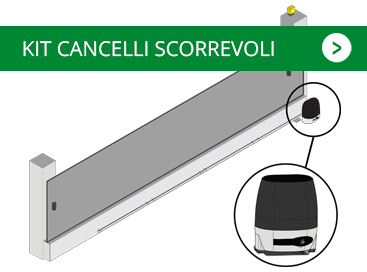 kit cancelli scorrevoli