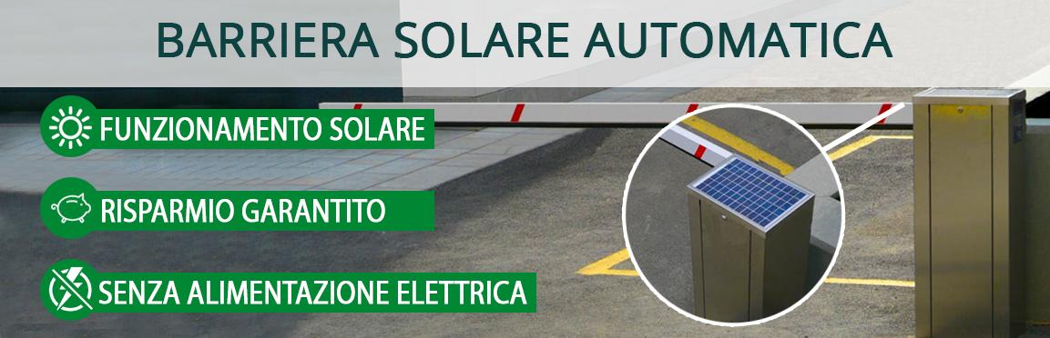 Kit automazioni - Barriera ad alimentazione solare
